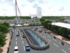 Phối cảnh nút giao thông ba tầng 520 tỉ ở Đà Nẵng