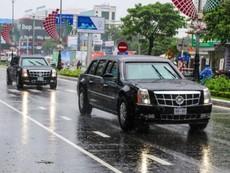 Clip: Cadillac One của Tổng thống Mỹ trên phố Đà Nẵng