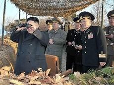 Kim Jung Un thị sát diễn tập quân sự chống Mỹ-Hàn