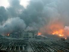 Hình ảnh: Cảnh hoang tàn sau vụ nổ rung chuyển Thiên Tân