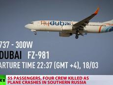 Clip nghi máy bay của Flydubai rơi tại sân bay Nga
