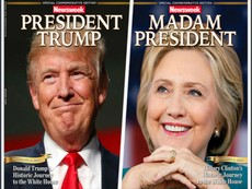Báo Mỹ làm trước bìa Clinton chiến thắng gây 'bão' mạng
