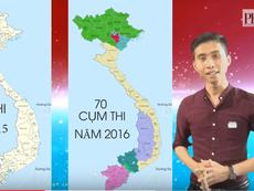 Clip toàn cảnh 120 cụm thi THPT quốc gia 2016