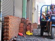 Bơm chống ngập ở đường Kinh Dương Vương