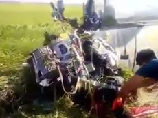 Video: Cận cảnh máy bay quân sự rơi ở Phú Yên