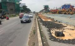 Ngổn ngang công trình mở rộng xa lộ Hà Nội