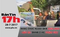 Bản tin 17h: Người dân đốt xe, đánh 2 kẻ trộm chó