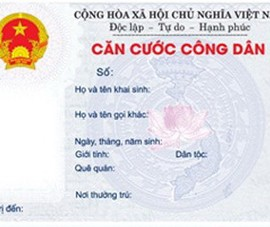 Bộ Công an giới thiệu mẫu thẻ căn cước công dân