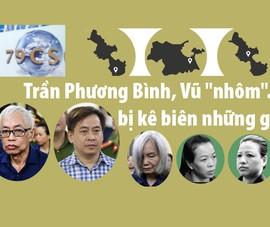 Trần Phương Bình, Vũ 'nhôm'... bị kê biên những gì?