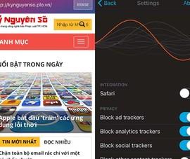 Chặn quảng cáo trên iPhone với Firefox Focus