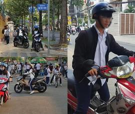 Cảnh báo học sinh đi xe phân khối lớn