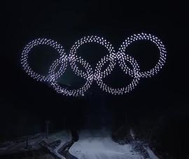 Ngắm bữa tiệc ánh sáng từ drone ở Olympic mùa đông 2018