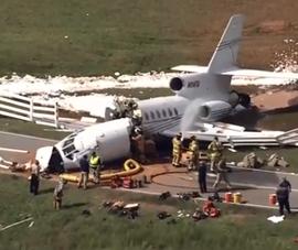 Máy bay gãy đôi trong khi hạ cánh, cơ trưởng và cơ phó tử nạn