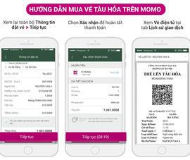 Cách mua vé tàu Tết 2019 bằng ví điện tử