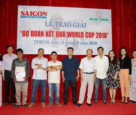 Báo SGGP trao thưởng cho độc giả dự đoán World Cup 2018