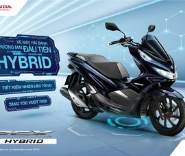 Đặc sắc mẫu xe 2 bánh Honda PCX HYBRID đầu tiên