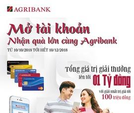 """Cơ hội nhận ưu đãi """"kép"""" khi mở tài khoản Agribank"""