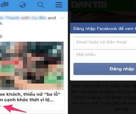 Mất tài khoản Facebook khi đọc tin tức?