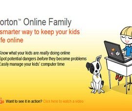 Norton Online Family: Yên tâm khi trẻ online