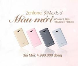 ZenFone 3 thêm màu hồng, vàng, giá chỉ 4,99 triệu đồng