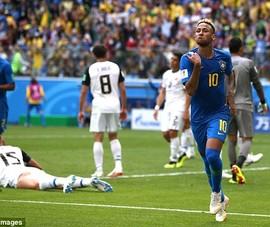 Brazil vỡ òa phút bù giờ, Neymar ôm mặt khóc như đứa trẻ