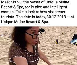Chủ resort chặt lưới bóng chuyền của du khách