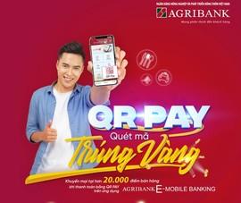 Thanh toán QRPay Agribank E-Mobile Banking: Quét mã trúng vàng