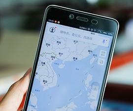 Smartphone Trung Quốc chứa bản đồ có đường lưỡi bò?