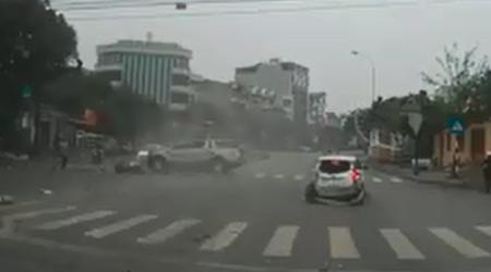 Clip tai nạn kinh hoàng ở Hải Dương