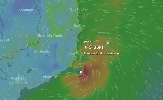 Cách theo dõi đường đi của cơn bão bằng smartphone