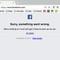 Facebook và Messenger gặp sự cố không thể truy cập