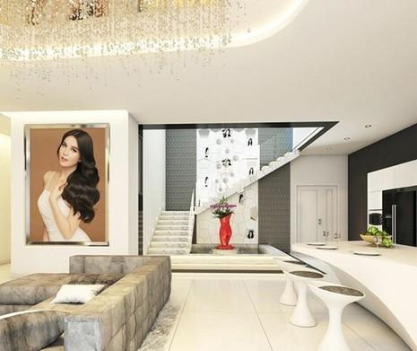 Choáng ngợp căn hộ trắng 20 tỷ đồng của Ngọc Trinh - ảnh 2
