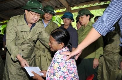 Phó Thủ tướng trực tiếp thị sát tình hình mưa lũ ở Lào Cai - ảnh 5