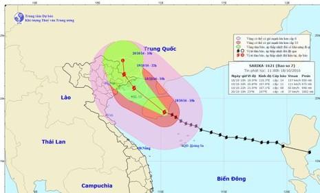Bão số 7 gió giật cấp 8-9 ở khu vực đảo Bạch Long Vĩ - ảnh 1