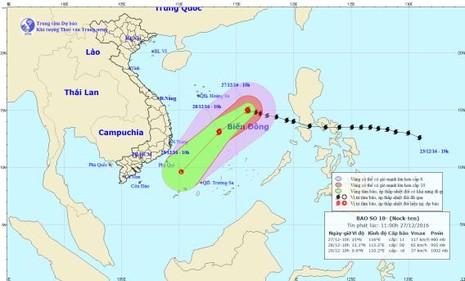 Bão Nock Ten vào biển Đông, báo động thiên tai cấp độ 3 - ảnh 1