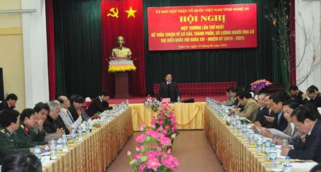 Ứng viên đại biểu Quốc hội khóa XIV của Nghệ An là 35 người  - ảnh 1