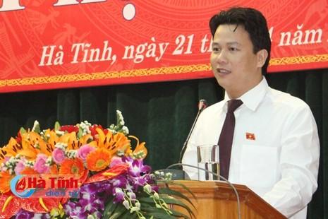 Hà Tĩnh có tân chủ tịch tỉnh trẻ nhất nước  - ảnh 1