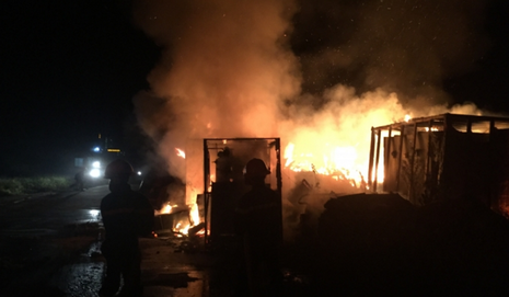 Cháy lớn ở dự án thép Vạn Lợi tại Vũng Áng - ảnh 1