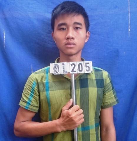 Bị can Nguyễn Hàm Thắng tại cơ quan công an.