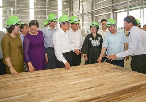 Phó Thủ tướng cắt băng khánh thành nhà máy gỗ 300 triệu USD - ảnh 3