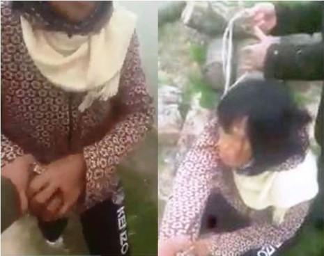 Công an truy tìm người tung clip bắt giữ một phụ nữ - ảnh 1