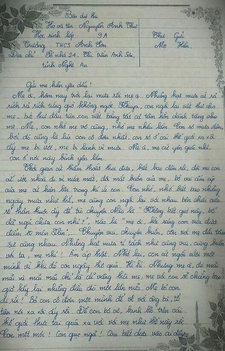 Trang 1 bài dự thi của em Nguyễn Anh Thư.