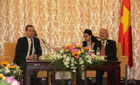 Chủ tịch UBND TPHCM Lê Hoàng Quân tiếp đón Thủ tướng NgaDmitry Medvedev.