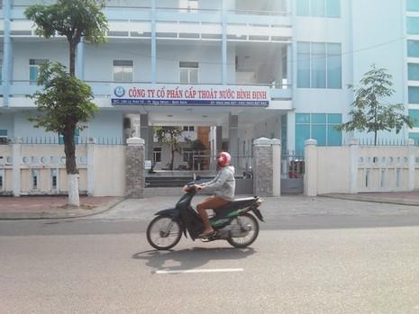 Trụ sở Công ty CP Cấp thoát nước Bình Định