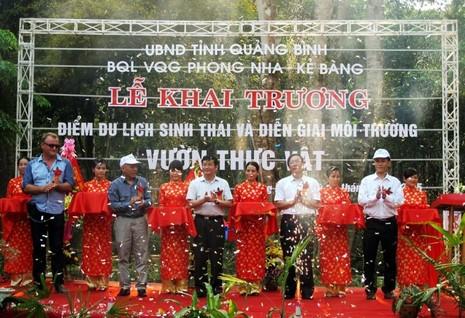 VQG Phong Nha-Kẻ Bàng khai trương điểm du lịch sinh thái rộng 40ha - ảnh 1