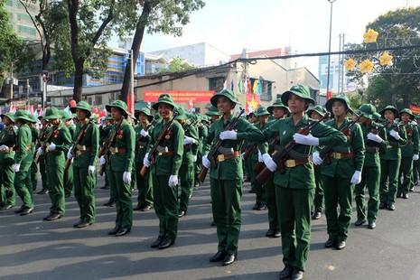 Tổng duyệt diễu binh, diễu hành kỷ niệm 40 năm thống nhất đất nước - ảnh 5