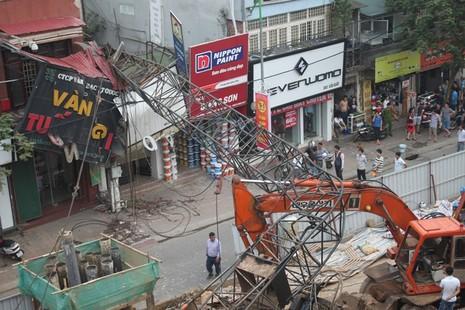 Hà Nội yêu cầu công an vào cuộc vụ sập cần cẩu tại metro - ảnh 1