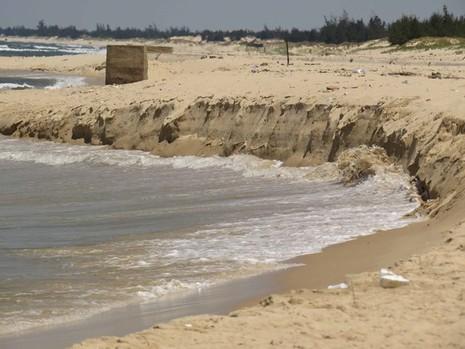 Quảng Bình: Sạt lở bờ biển nghiêm trọng - ảnh 1