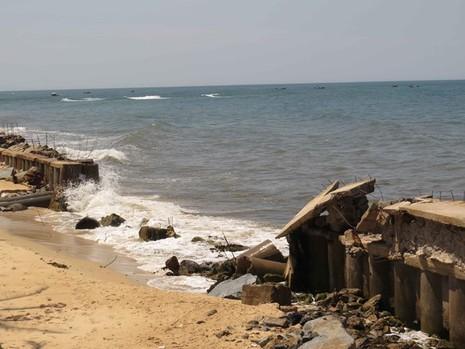 Quảng Bình: Sạt lở bờ biển nghiêm trọng - ảnh 2