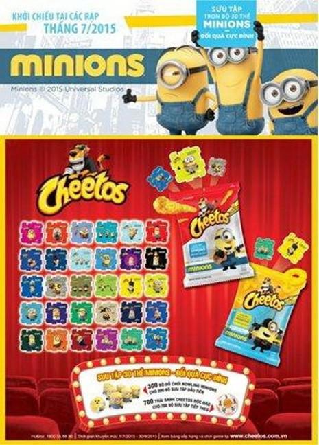 Sưu tập thẻ Minions, vui hè cùng Snack Cheetos - ảnh 1